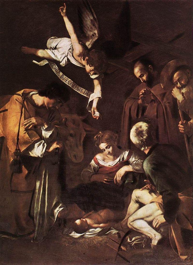 natività con i santi lorenzo e Francesco d'assisi Caravaggio