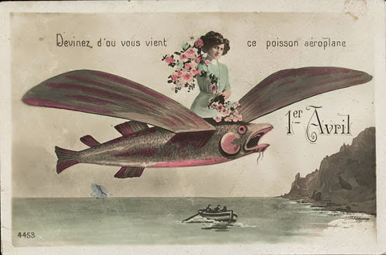 Vintage French April Fools' Day Postcard (1)