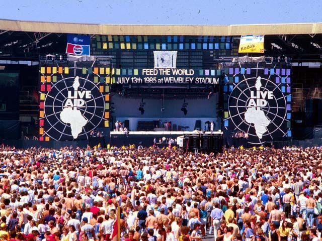Il Live Aid, un concerto per raccogliere fondi per l'Africa