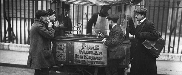 La prima cialda per il gelato