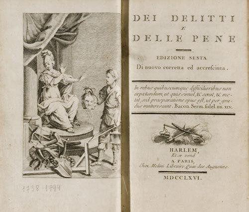 Il 15 marzo 1738 nasce Cesare Beccaria