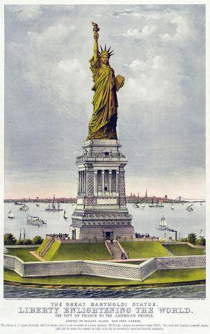 La Statua della Libertà arriva a New York