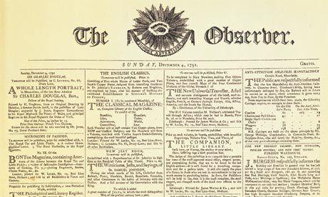 Il primo numero del The Observer