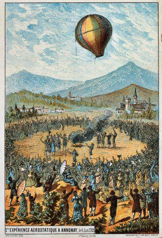 Il primo volo in mongolfiera