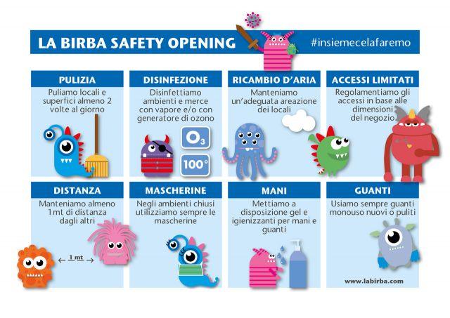 Safety opening da lunedì 18 maggio