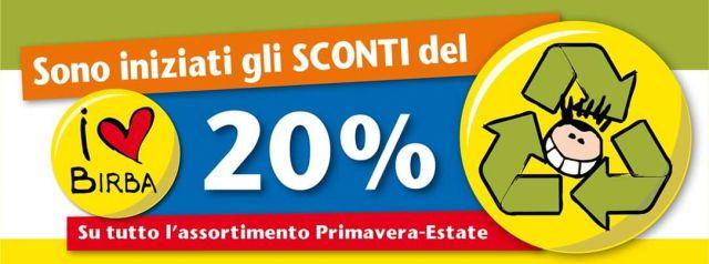 SCONTO - 20% su primavera-estate