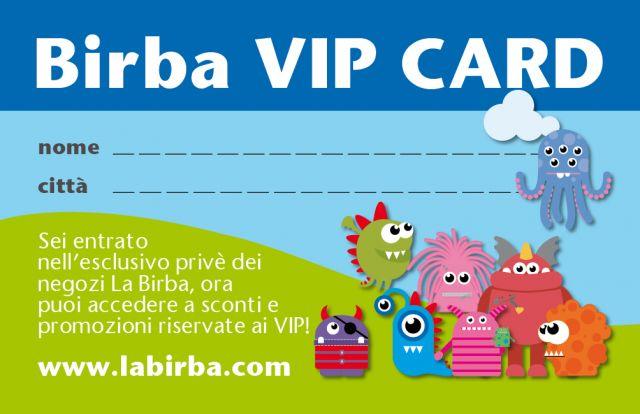 Richiedi LA BIRBA Vip Card